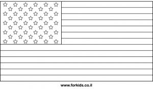 דף צביעה דגל ארצות הברית