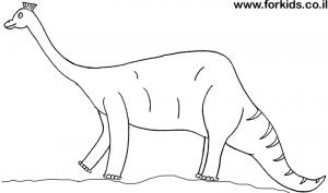 דף צביעה דינוזאור כתר