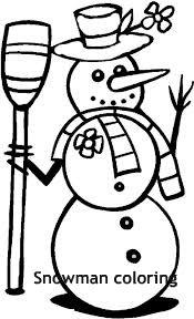 בובת שלג לצביעה