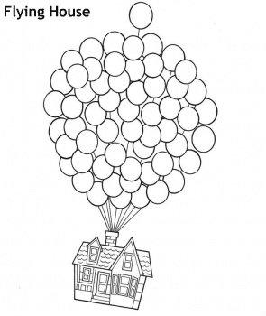 דף צביעה בית מעופף