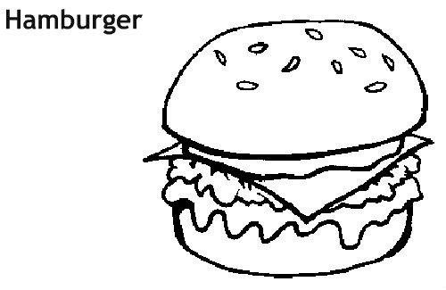 המבורגר לצביעה