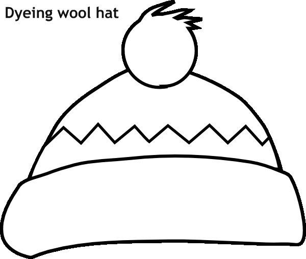 כובע צמר לצביעה