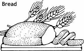 לחם חתוך לצביעה