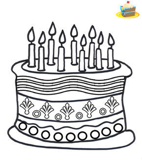 עוגה דף צביעה