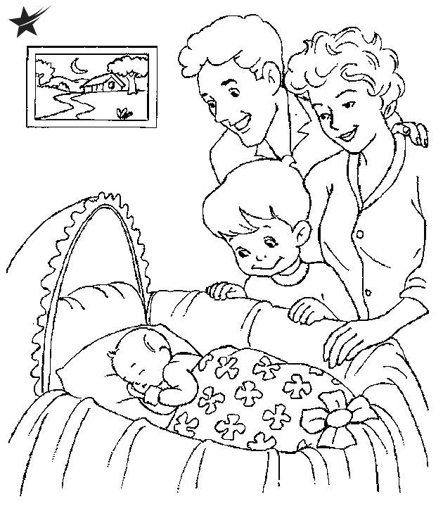 תינוק ישן דף צביעה
