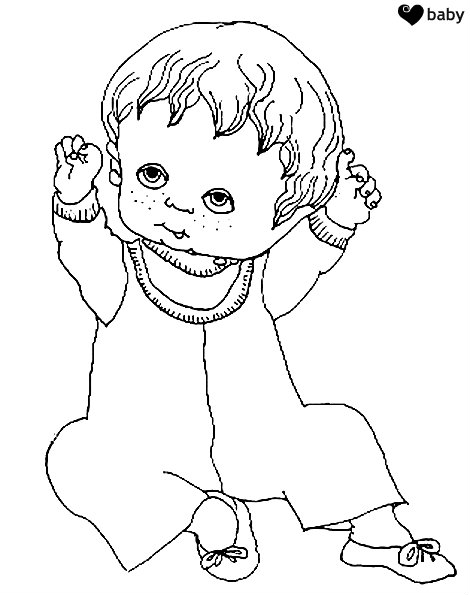 תינוקת קטנה דף צביעה